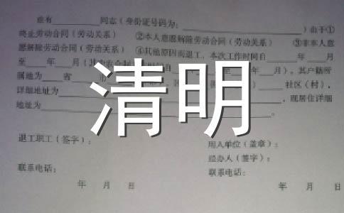 2019清明节范文